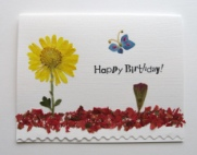 Chrysanthemum with Primrose Birthday Card