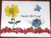 Chrysanthemum Happy Birthday Card