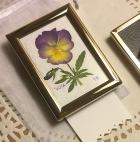 Miniature Pressed Flower Picture, Starry Night