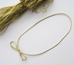 Gold Elastic Loops With Bow  8 Inch Bundle of 50