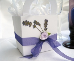 Lavender Whimsical Favor Box  Set of 12