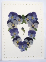 Victorian Pansy Heart Card